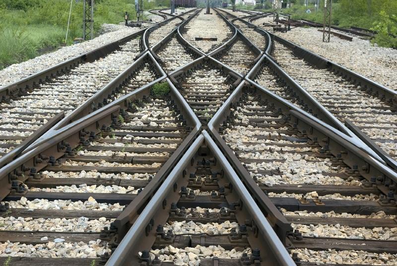 aiguillage de voies de chelins de fer